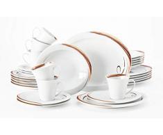 Seltmann Weiden Top Life-Vajilla de 30 Piezas para hasta 6 Personas, Incluye 6 Llanos, hondos, Desayuno, Tazas y Platos de café, Porcelana, Multicolor