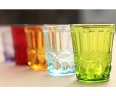 Villa D'Este Eclipse Juego de 6 Vasos de Cristal en Varios Colores