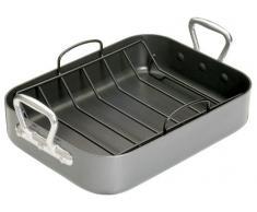 Kitchen Craft Master Class - Fuente de horno rectangular con rejilla (superficie antiadherente)