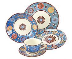 Creatable 19719Â Serie Sumaya Blue, Vajilla, Porcelana,, 40Â x 32,5Â x 32,5Â cm, 30Â Unidades