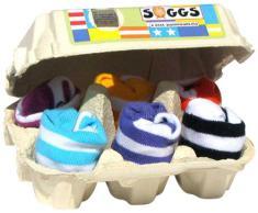 Huevera Soggs calcetines rayados. Talla 0-12 meses