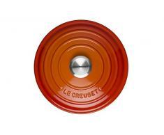 LE CREUSET Evolution Cocotte con Tapa, Redonda, Todas Las Fuentes de Calor Incl. inducción, 1,8 l, Hierro Fundido, Naranja (Volcánico), 18 cm