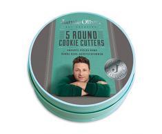 Jamie Oliver cortadores de galletas – Puerto Azul, Tin – Juego de 5