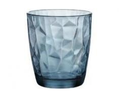 Bormioli Rocco Diamond Ocean - Set de 3 vasos de agua/vino (30 cl), color azul