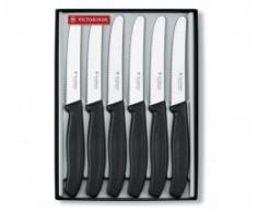 Victorinox 6 teiliges cuchillo de mesa-Set SwissClassic, negro (H.Nr, 67333, 6G)