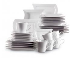 Domestic 921351 - Vajilla de 6 servicios (30 piezas), color blanco