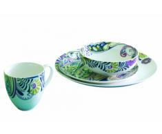 Denby Monsoon Cosmic - Vajilla (16 Piezas), Estampado