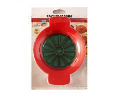 Fackelmann Cortador Porciones Tomates/Manzanas, ABS, verde y rojo