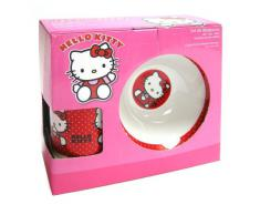 Hello Kitty - Set de desayuno de porcelana, color rojo (United Labels 811286)