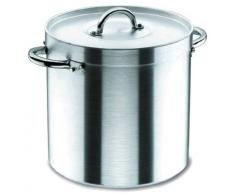 Lacor Chef 20126 - Olla recta con tapa, 26 cm, aluminio