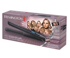 Remington S6505 Pro Sleek & Curl - Plancha para el pelo, 150º - 230º C, revestimiento de cerámica, visor digital, función TURBO