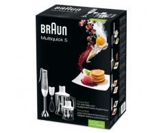 Braun MQ545 Aperitif Batidora con Mini Picadora, 600 W, 20 Decibelios, Plástico, 2 Velocidades, Gris