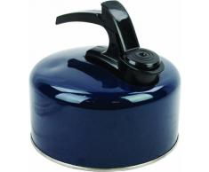 Highlander - Hervidor de agua de aluminio de tamaño grande, color azul marino