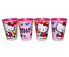 Hello Kitty Juego de vasos de zumo, 4 unidades