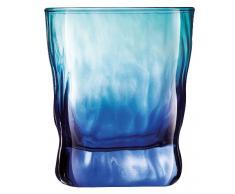 Luminarc Duos - Juego de vasos de whisky, 6 unidades, 30 cl, color turquesa y azul