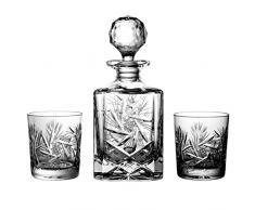 Julia 2117 - Set de Botella y 6 Vasos de Whisky (Cristal de Bohemia, 24% óxido de Plomo)