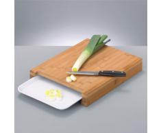 Zeller 25259 - Tabla de cortar de bambú con bandeja en el interior (38 x 26 x 4,5 cm)