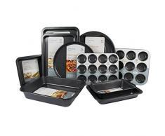 Juego de 10 – Get Goods fácil para horno antiadherente bandeja de horno Sets – acero de carbono