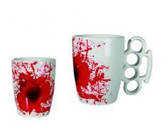 Out of the blue 78/8105 blanco cerámica-taza con manchas de sangre, protector de, aproximadamente 12,5 x 11 cm