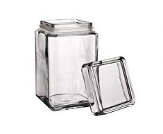 Tarro de cristal con cierre hermético Pasabahce Glass, 1,5 l