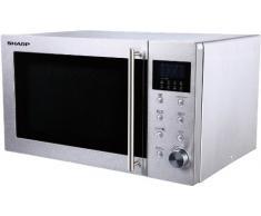 Sharp R28STW - Microondas, 23 l, control mecánico y táctil, 800 W