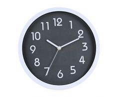 Binwo modernos colorido elegante con estilo silencioso para no marcando Inicio Cocina / sala de estar del reloj de pared 10 pulgadas (Gris)