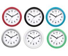 bold9 pulgadas reloj de pared para cocina 6 diferentes colores, Plateado, 22,9 cm