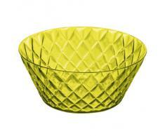 Koziol CRYSTAL - Ensaladera de plástico 3,5 l, efecto cristal, color verde oliva