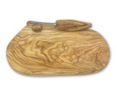 Bérard 12070 - Mantequera y cuchillo para untar (madera de olivo)