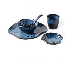 Juego de vajilla de Estilo japonés, Olla de cerámica, Restaurante de Sushi, Restaurante, Plato a Juego, Cuchara, Taza (Adecuado para una Persona)