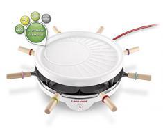 LAGRANGE 129013 8personas(s) 800W Blanco raclett eléctrico - Raclette (800 W, 300 mm, 135 mm, 2,06 kg)