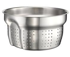 Tefal Ingenio L9259704 Recipiente en forma de colador para cocer la pasta, acero inoxidable, 20 cm