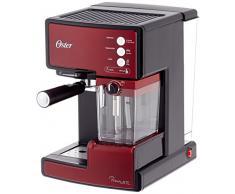 Oster Prima Cafetera automática para Cappuccino, Latte y Espresso con Tratamiento, 1.5 l Agua, 300 ml depósito para Leche, 1238 W, Acero Inoxidable