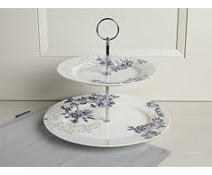 V y un Museo Palmers seda soporte para tartas, porcelana, color blanco