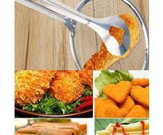 Adolenb Cuchara de filtro multifuncional de cocina nueva con filtro de ensalada de barbacoa de aceite de fre/ír comida Coladores y filtros