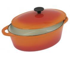 Crealys 501601 - Cocotte ovalada de hierro fundido, 6,5 l