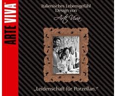 ARTE VIVA 1143140 - Juego de café y vajilla de porcelana ARCADIA, 45 piezas, redondos, color lila, design I love