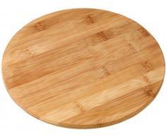 Fackelmann 37742 Vesperbrett - Tabla Redonda para Cortar (bambú, 24 cm)