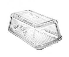 Kilner mantequillera de vidrio - mantequilla bandeja con tapa vintage, ideal para mantequilla artesana