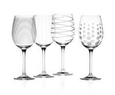 Creative Tops Mikasa Cheers de Cristal Copas de Vino Blanco, Juego de 4