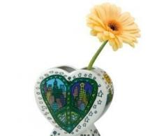 "Goebel 26100396 ""a Peace of My World – Jarrón, porcelana, multicolor, 13 x 6 x 12,5 cm"