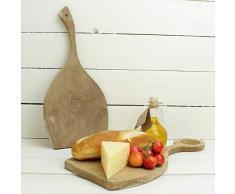 macosa ptm67784 Juego de 2 Tablas para Servir Madera con Mango de diseño, 38 x 18 cm, Tabla de Queso, Cocina Tabla | Bandeja | Tabla de Madera para Cortar | Utensilios de Cocina
