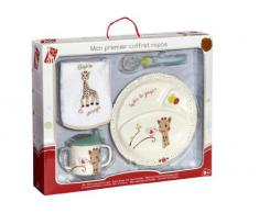 Vulli 460008 - Vajilla infantil en maletín (melamina), diseño de Sophie la jirafa