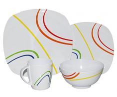 100% melamina vajilla de camping tienda de campaña 16 piezas picnicware Caravan Camper Line color