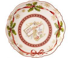Villeroy & Boch toy S Fantasy cuenco pequeño lista Navidad, porcelana, blanco, 16 x 16 x 0.1 cm