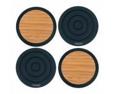 Stiefelmayer-Contento 655022 Tip-Top - Posavasos (bambú y silicona), color negro