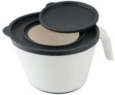 Fackelmann Mix Cuenco con tapa, 2 litros, de plástico, multicolor