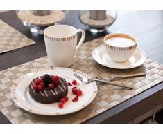 Ritzenhoff & Breker 035889 Elba - Vajilla de porcelana (18 piezas)