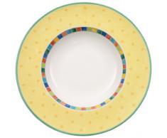Villeroy and Boch Twist Alea Limone - Plato hondo, 30 centímetros, color amarillo y blanco