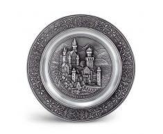 Artina 10084 - Plato Decorativo para Pared diseño de Neuschwanstein
